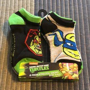 Boys Teenage Mutant Ninja Turtle 6 Pack Socks